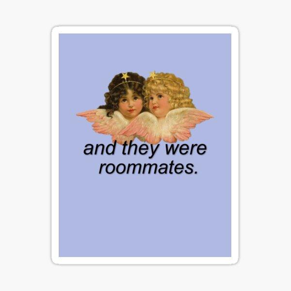 Und sie waren Mitbewohner Meme mit Engeln Sticker
