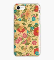 Colorful Flowers Collage Yellow Tones iPhone Case/Skin