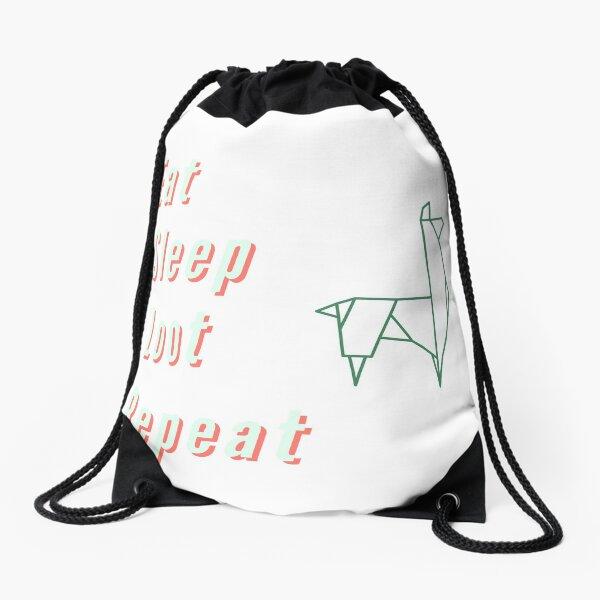 EAT SLEEP FLOSS REPEAT Drawstring Backpack//Dance Emote//Gamer Backpack