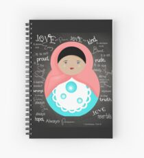 Love Is Patient Babushka Doll Spiral Notebook