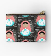 Love Is Patient Babushka Doll Zipper Pouch