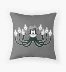 Rude Octopus Throw Pillow
