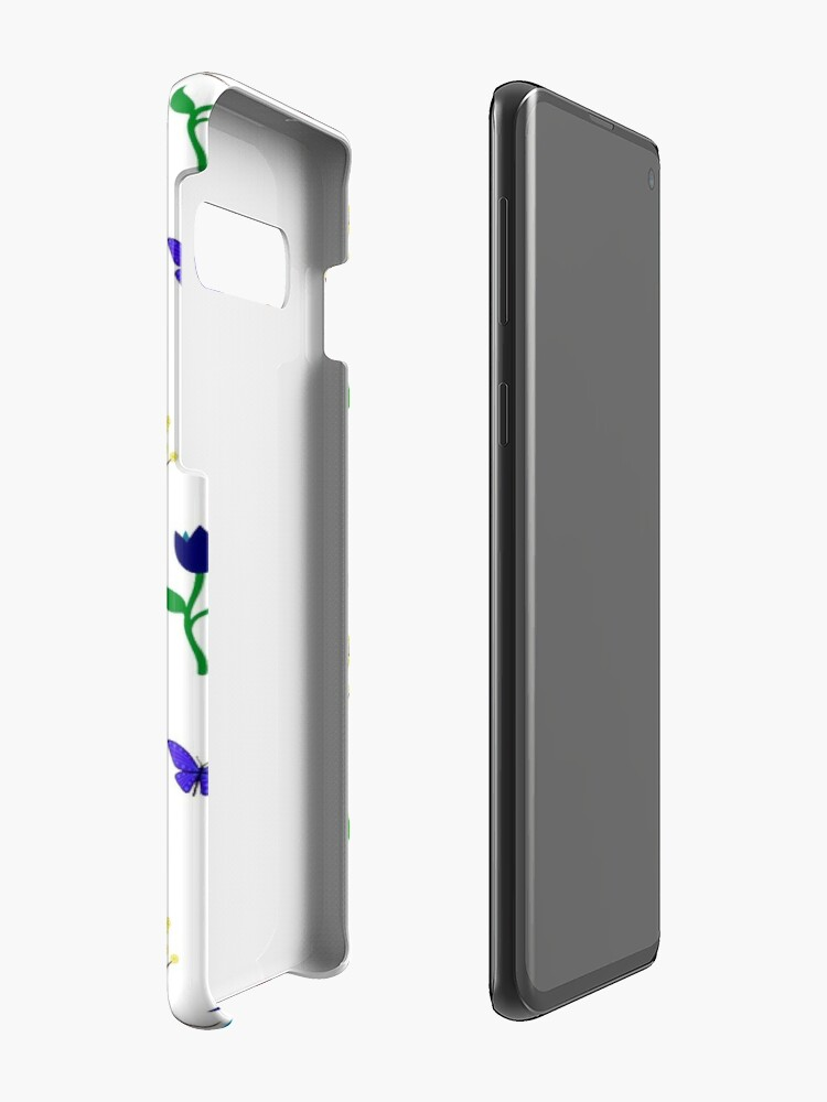 Alternate view of Scattered Flowers and Butterflies, no background Case & Skin for Samsung Galaxy