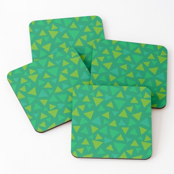 ANIMAL CROSSING GRASS 2 Coasters (Set of 4)