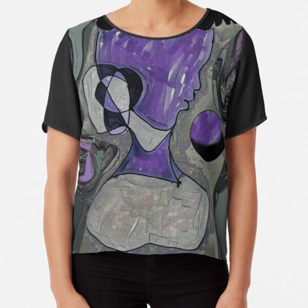 Perfume Botticelli with an Industrial Face Chiffon Top