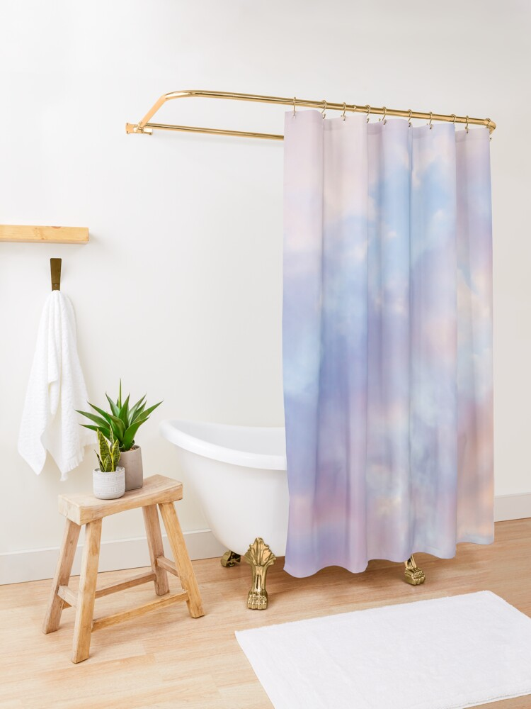 Alternate view of Pink sky Shower Curtain