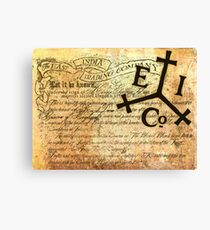 EAST INDIA LETTER OF MARQUE Canvas Print