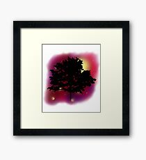 Trees Shadow Against the Night Sky Framed Print
