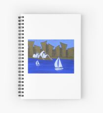Sails and City Spiral Notebook