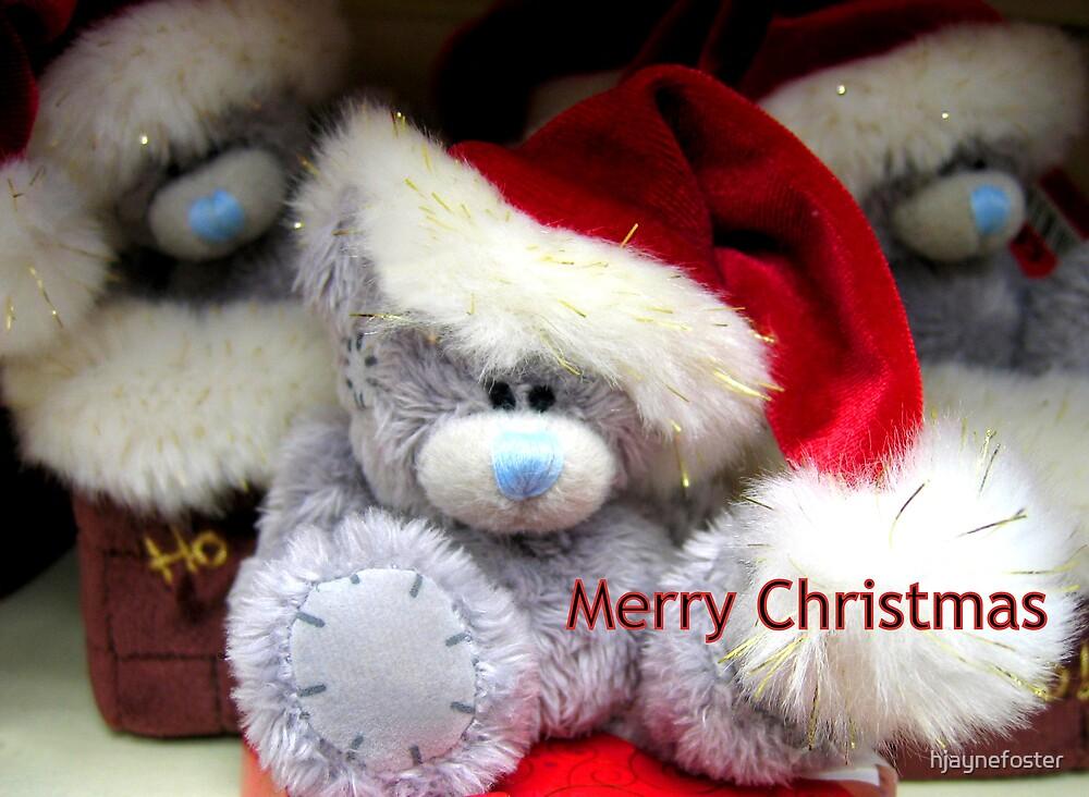 Santa Bear Merry Christmas by hjaynefoster