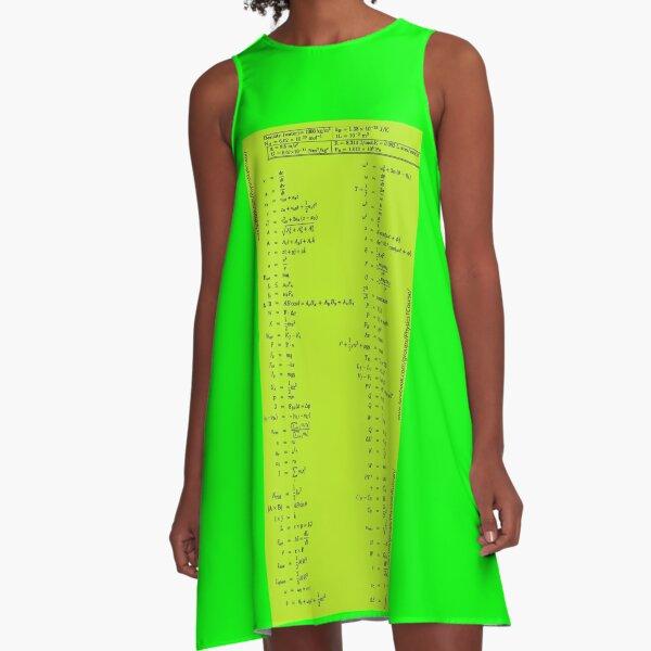 #Physics #Formula Set #PhysicsFormulaSet #FormulaSet A-Line Dress
