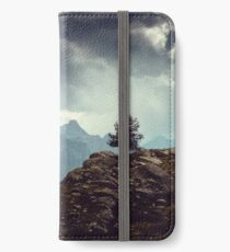 Majestic Mountains and a lone tree iPhone Wallet/Case/Skin