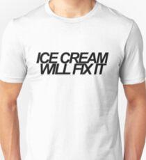 Eiscreme wird es beheben - schwarz Slim Fit T-Shirt