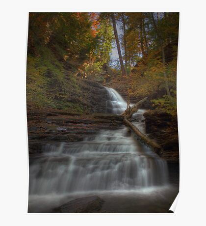 Huron Falls (in Autumn) Poster