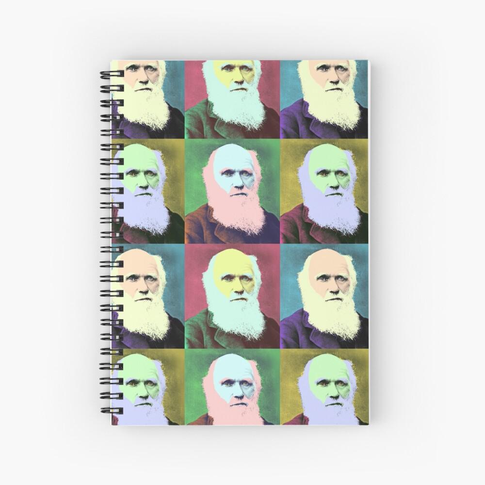 Charles Darwin - Pop Art design Spiral Notebook