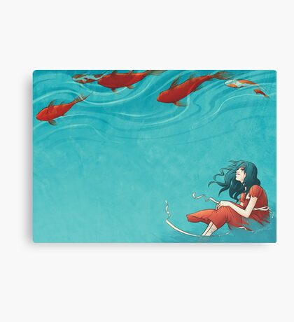 Koi fish canvas prints redbubble for Koi canvas print