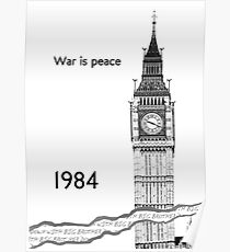 "George Orwell - 1984 - ""War is Peace"" Poster"