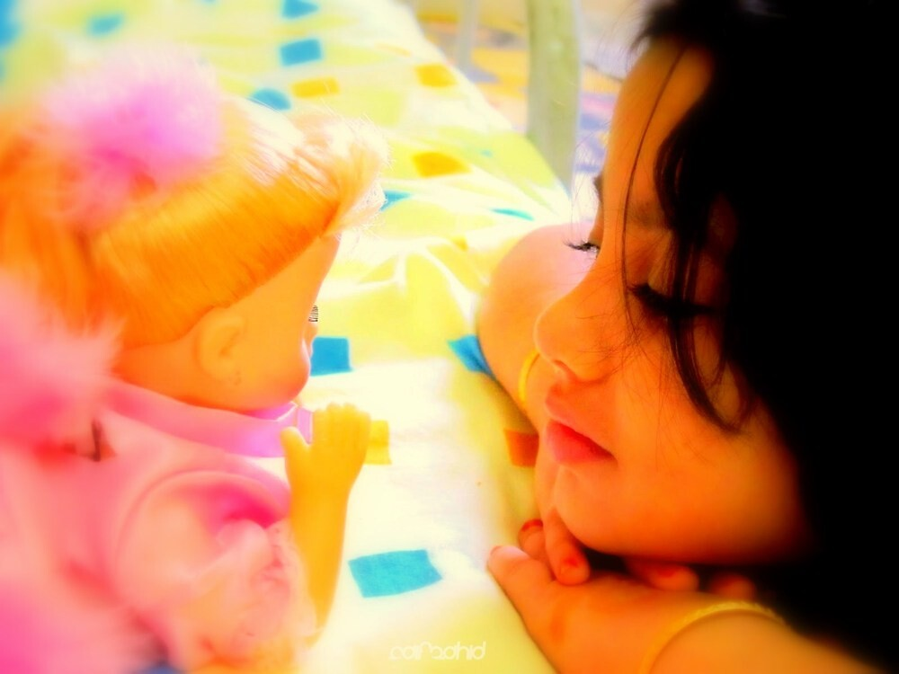dolls are the best friends of girls.......because they don't fight ! by Saif Zahid