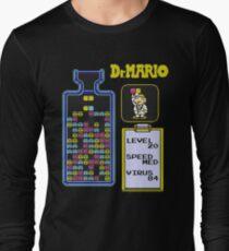 Dr.Mario NES Long Sleeve T-Shirt