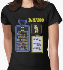 Dr.Mario NES Women's Fitted T-Shirt