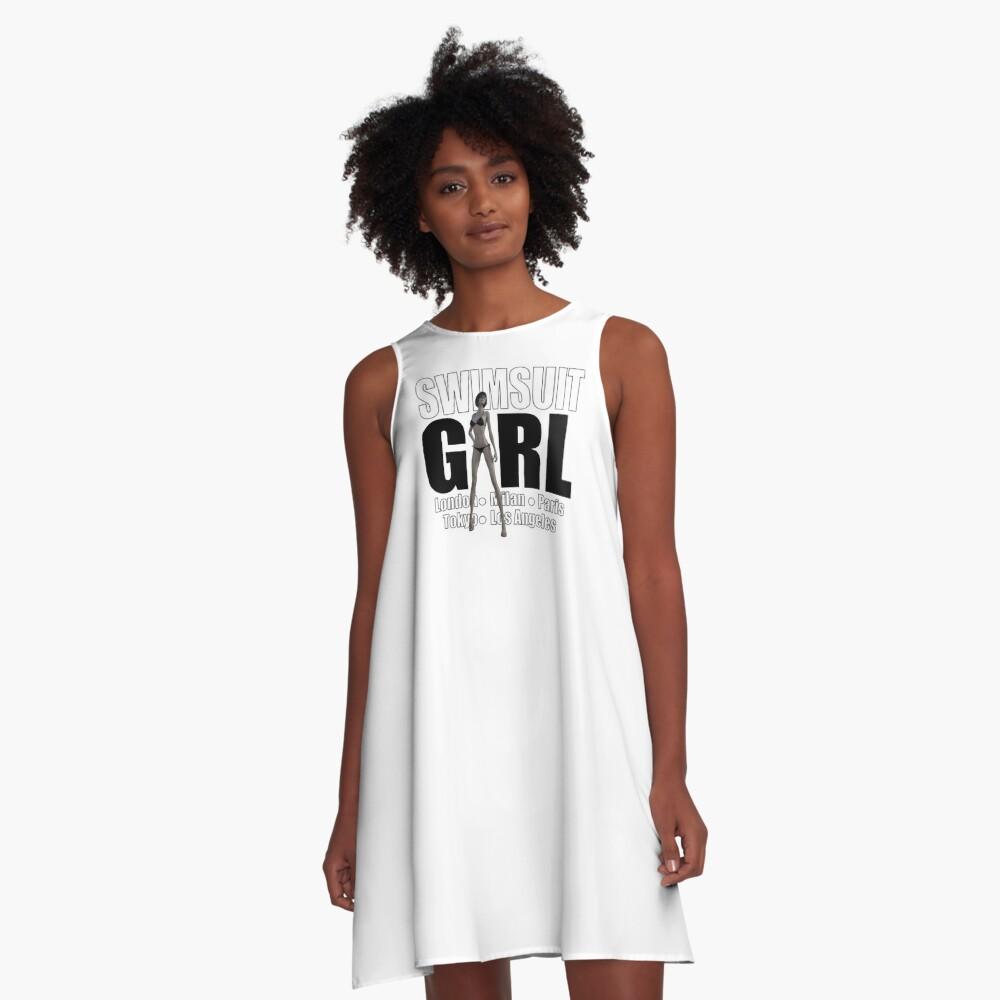 Fashion Girl   Swimsuit Girl A-Line Dress