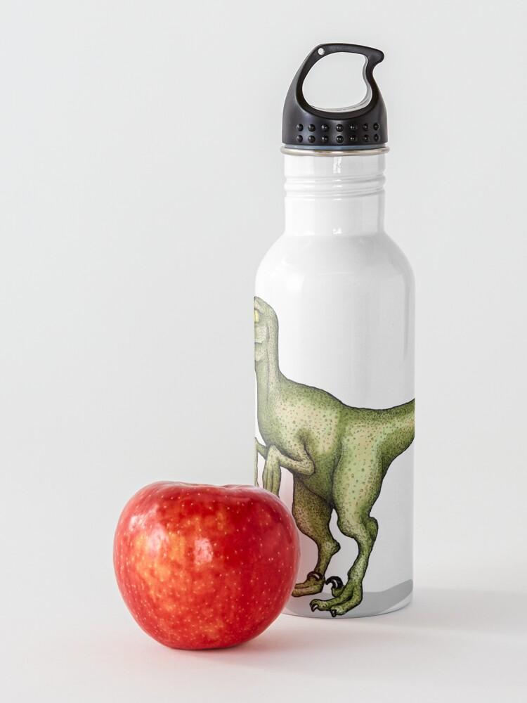 Alternate view of Raptor eating pizza Water Bottle
