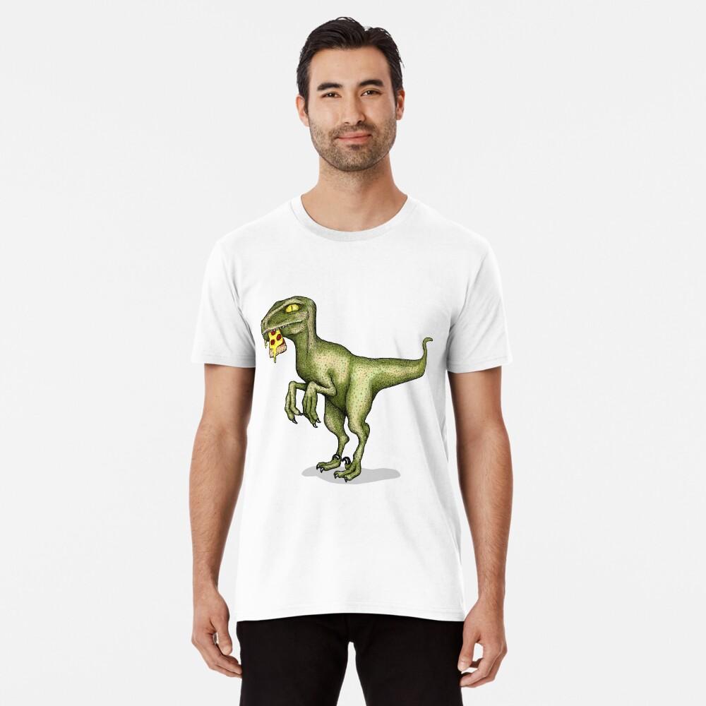 Raptor eating pizza Premium T-Shirt