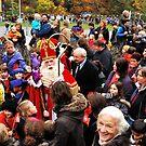Getting a personal salute by Sinterklaas by jchanders