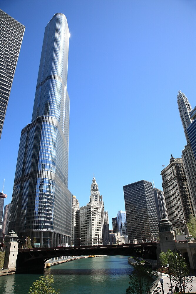 Chicago River and Skyline by Frank Romeo