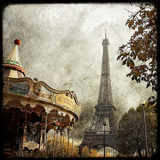 The Carousel and The Eiffel Tower by Marc Loret