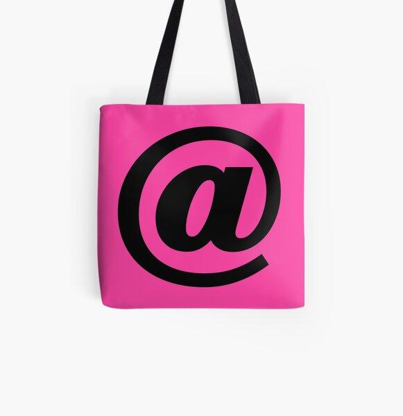 Pink & Black At Symbol @ Digital Art All Over Print Tote Bag