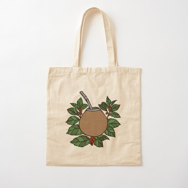 Yerba mate gourd and leaves Cotton Tote Bag