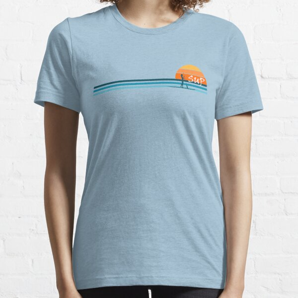 SUP Stand up paddle board summer sunset - v2 Essential T-Shirt