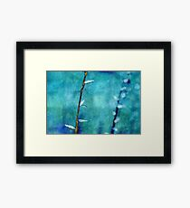 aqua and indigo Framed Print