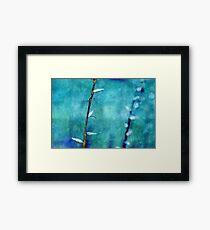 aqua and indigo Framed Print