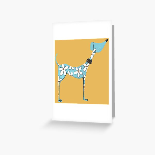 Dog, King of Flowers Greeting Card