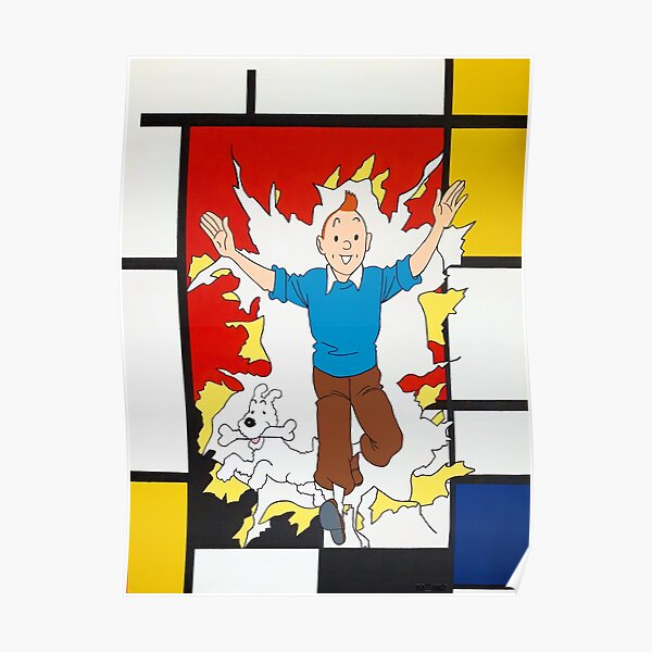 Tintin Mondrian Poster