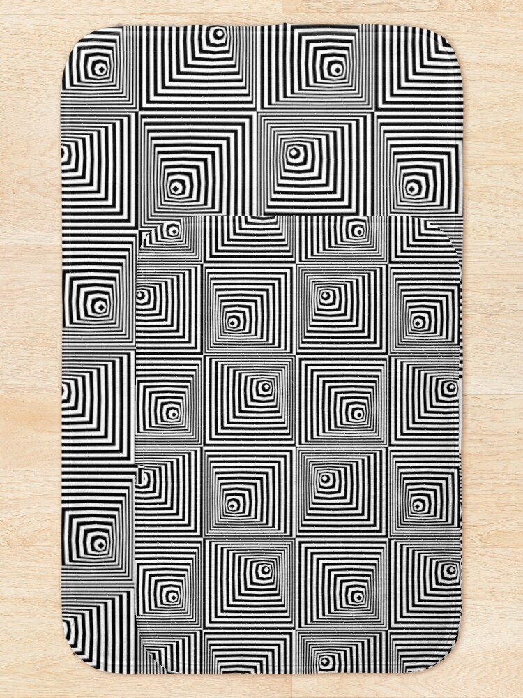Alternate view of optical illusion pyramids Bath Mat