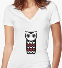 Wise Owl Fitted V-Neck T-Shirt