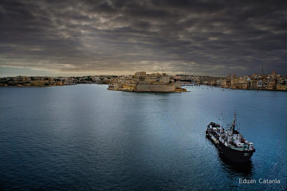 Land Ahoy! -------- Valletta Harbour Malta by Edwin  Catania