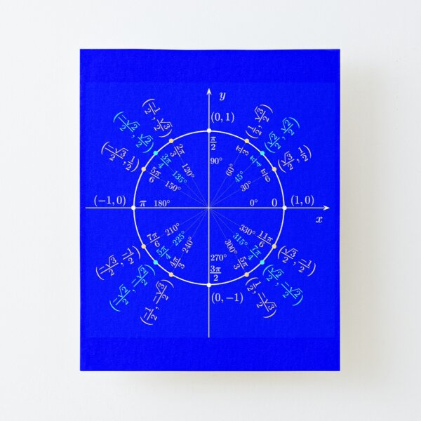 #UnitCircle, #Circle, #Trigonometry, #Sine, Trigonometric Functions, Cartesian Coordinate, System, Mathematics Canvas Mounted Print