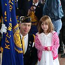 Flags and Granddaughter by Lorrie Davis