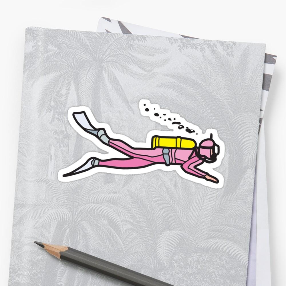 Bright Pink Diver Sticker