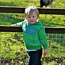 Fin posing with the animals by lendale