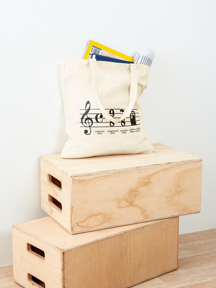 Alternate view of Wibbly-wobbly timey-wimey Tote Bag