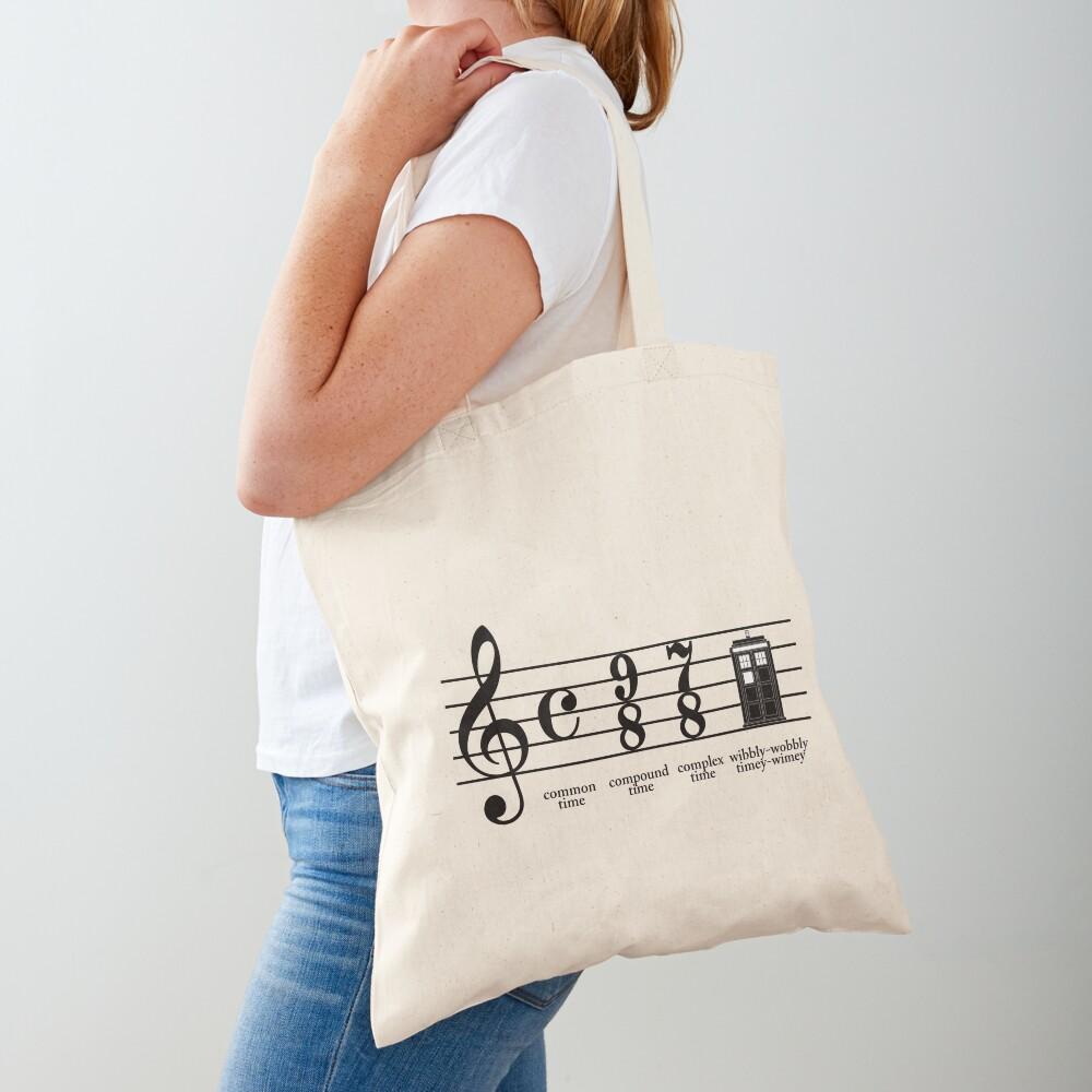 Wibbly-wobbly timey-wimey Tote Bag