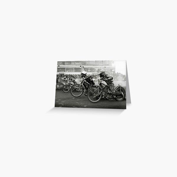 Speedway - Accelerating away Greeting Card