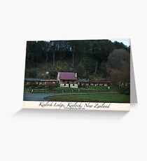 Kinloch Lodge, Kinloch, New Zealand Greeting Card