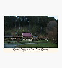 Kinloch Lodge, Kinloch, New Zealand Photographic Print