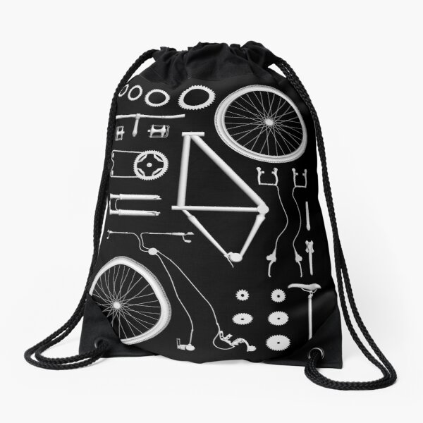 Bike Exploded Drawstring Bag